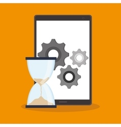 Smartphone and digital marketing design vector