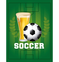 Soccer and beer vector