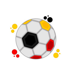 soccer ball with the colors of germany vector image