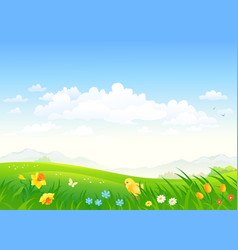 Spring country background vector