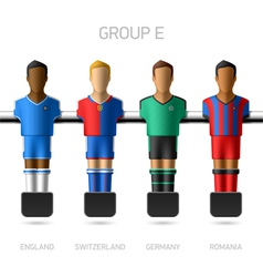 Table football foosball players Group E vector image
