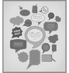 The new retro speech bubbles vector image