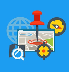 Transportation application concept vector