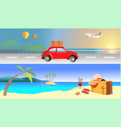 travel beach sea vector image