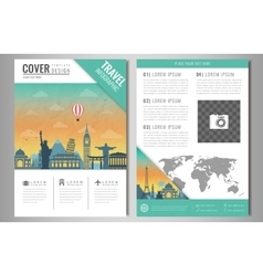 Travel information cards Travel and Tourism vector