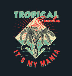 Tropical beaches handmade vector