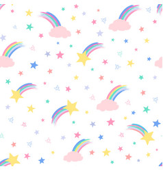 Varied and shooting stars vector