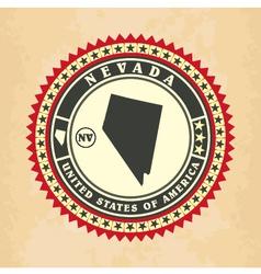 Vintage label-sticker cards nevada vector