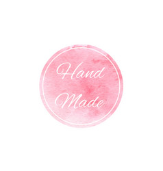Watercolor pink texture on the white background vector