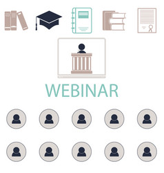 webinar online conference lectures and training in vector image