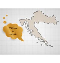 Welcome to croatia vector