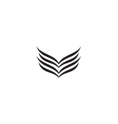 wing black logo vector image