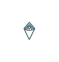 wrap icon design gastronomy icon vector image