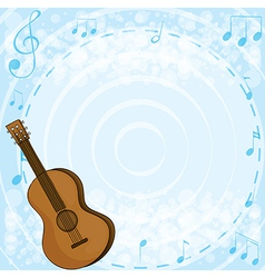 A brown classical guitar vector image vector image