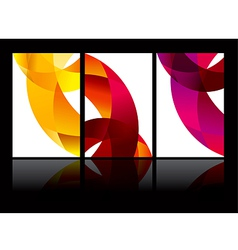 abstract background set EPS10 vector image vector image