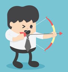 businessman shooting archery vector image