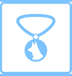 dog medal icon vector image