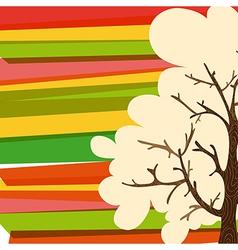 Multicolor tree background vector image