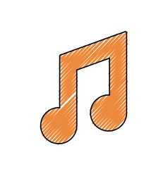 musical sign doodle vector image