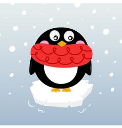 winter penguin vector image