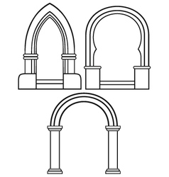 Classic arch vector image