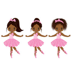 cute little african american ballerinas vector image vector image