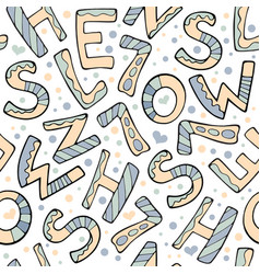 modern funny color seamless pattern hand drawing vector image vector image