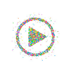 play button icon vector image vector image