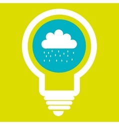 rain cloud isolated icon design vector image
