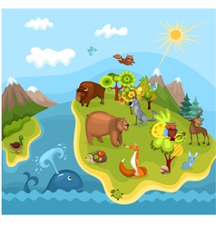 animal planet vector image vector image