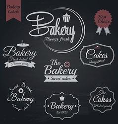 Chalkboard bakery labels vector