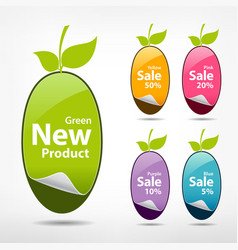 Collections sticker price tag vector image