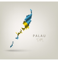 Flag of PALAU as a country with a shadow vector image vector image