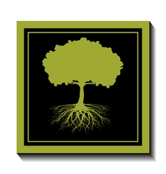 Green tree-nature vector image vector image