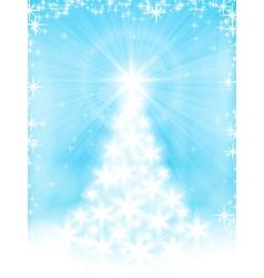 light blue christmas tree background vector image