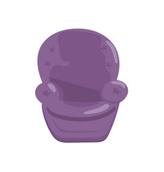 purple cozy armchair cartoon vector image