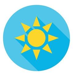 Sun over Blue Sky Circle Icon vector image