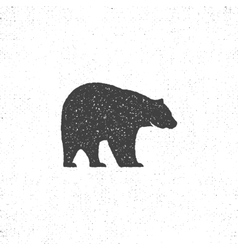 Vintage bear mascot symbol or icon in rough vector image
