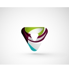 Abstract geometric company logo triangle arrow vector image vector image