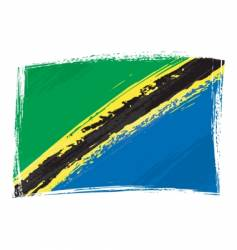grunge Tanzania flag vector image vector image