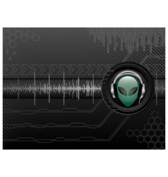 high-tech background vector image vector image
