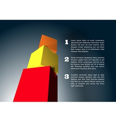 Infographic with 3D cube pyramid vector image