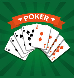 poker playing cards deck leisure casino vector image