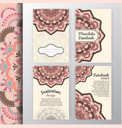 set of vintage invitation and background design vector image vector image