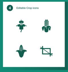 4 crop icons vector