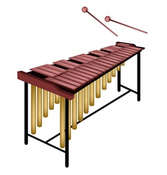 A Musical Marimba Isolated on White Background vector image