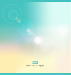 Abstarct background or pastel sky and flare nature vector