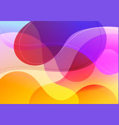 abstract fluid gradient shape vibrant color vector image