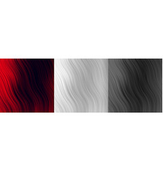 Abstract red white and black wavy lines background vector