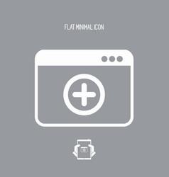 add new panel - web icon vector image